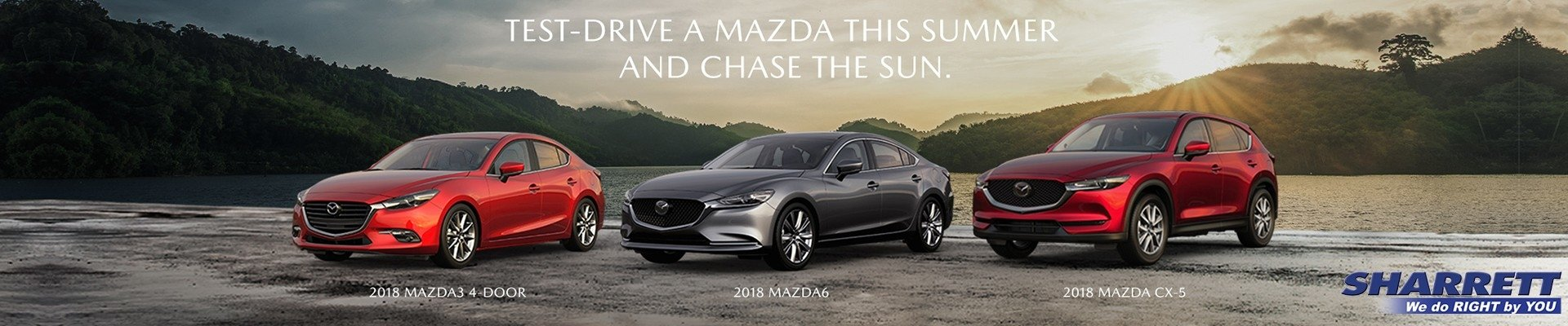 Test drive a Mazda today at Sharrett Mazda