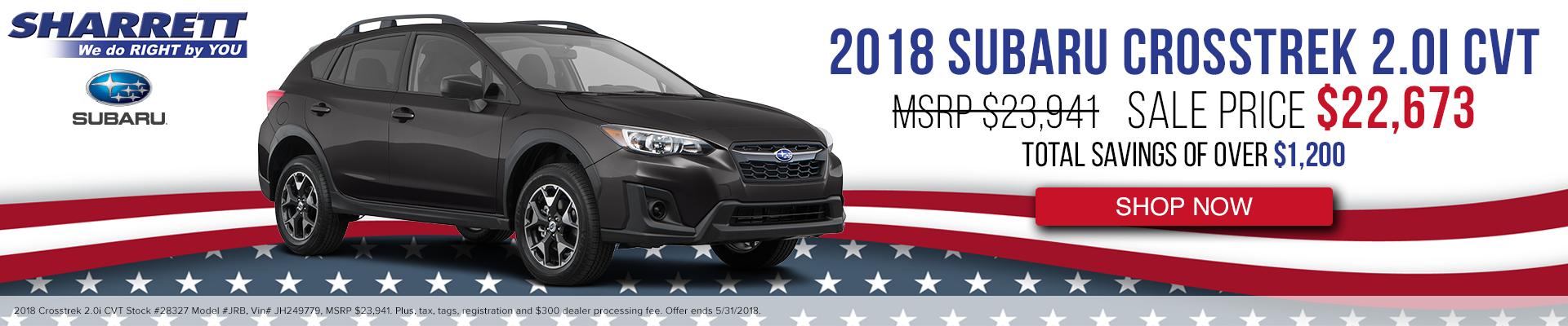 2018 Subaru Crosstrek 2.0i CVT