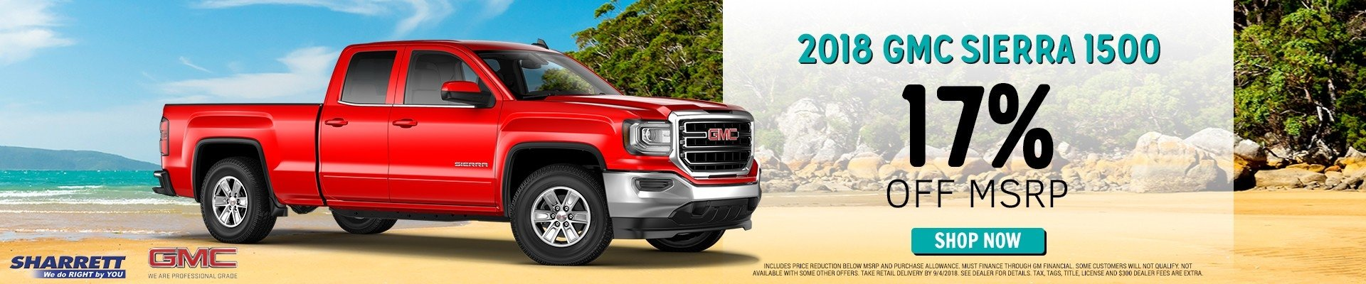 Get a 2018 GMC Sierra 1500 for 17% off MSRP | Sharrett Buick GMC