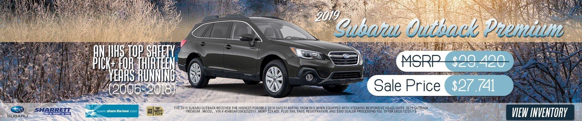 2019 Subaru Outback Premium for $27,741