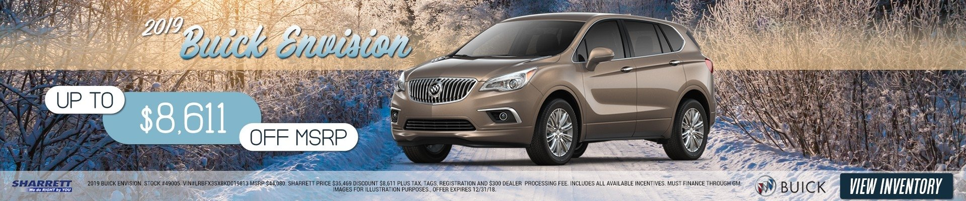 Up to $8,611 off MSRP on a 2019 Buick Envision