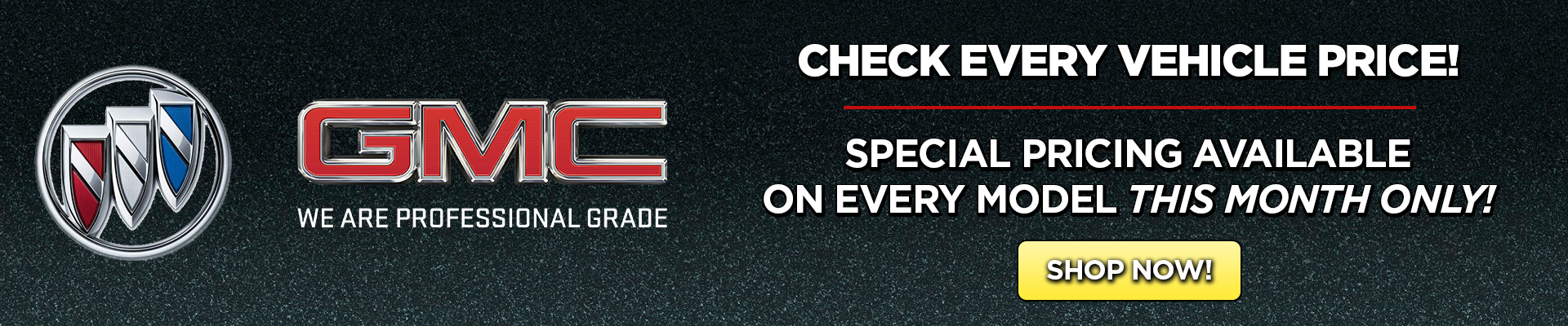 GMC Special Pricing Available