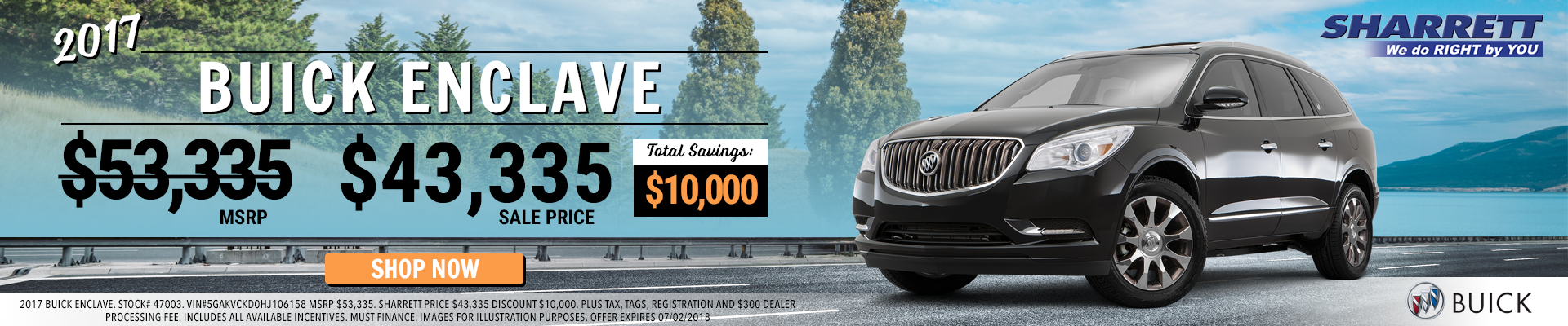 Save $10,000 on a 2017 Buick Enclave