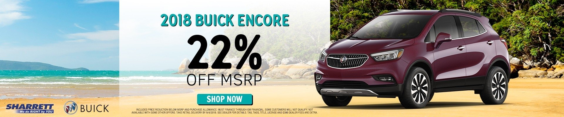 Get a 2018 Buick Encore for 22% off MSRP | Sharrett Buick