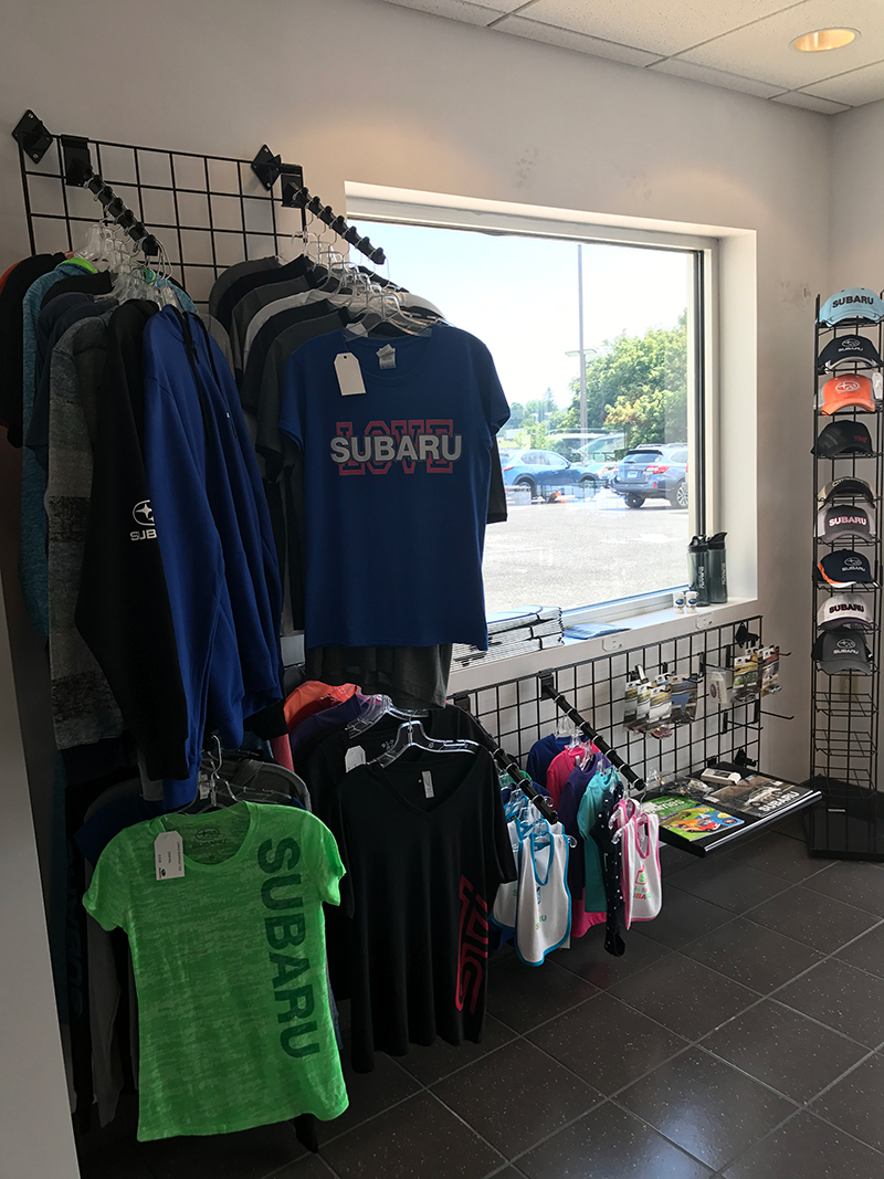 picture of the left side of our store featuring subaru items for sale
