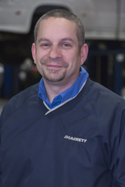 GM / Domestic Service Manager Jeff Braitman in Service at Sharrett Auto Stores