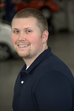 Parts Associate Tanner McKenrick in Parts at Sharrett Auto Stores