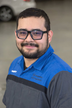 Subaru Technician José Sanchez-Garcia in Service at Sharrett Auto Stores