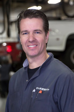 GM / Domestic Technician John Kraus in Service at Sharrett Auto Stores