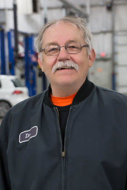 Detail Technician Don Seward in Service at Sharrett Auto Stores