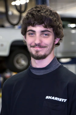 GM Quick Service Technician Colin Smigelski in Service at Sharrett Auto Stores