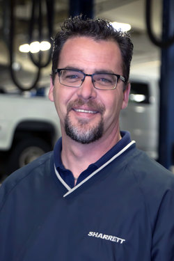 GM / Domestic Service Advisor Andy Kulpinski in Service at Sharrett Auto Stores