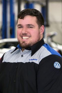Import Quick Service Technician Ben Lapole in Service at Sharrett Auto Stores