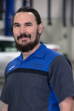 Subaru Technician John Wolf in Service at Sharrett Auto Stores