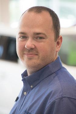 Sales Consultant Evan Mackenzie in Sales at Sharrett Auto Stores