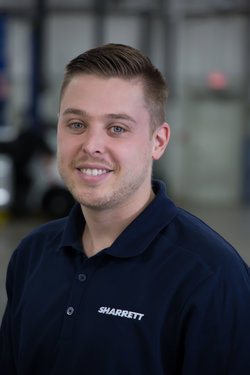 Subaru Service Advisor Jared Breakall in Service at Sharrett Auto Stores