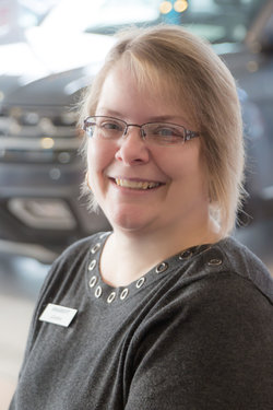 Receptionist Joanna Kauffman in Sales at Sharrett Auto Stores