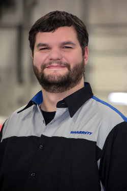 Import Technician Brandon Myers in Service at Sharrett Auto Stores