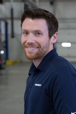 VW / Mazda Service Advisor Ryan Harbaugh in Service at Sharrett Auto Stores