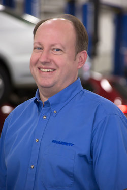VW / Mazda Service Advisor Jay Corbett in Service at Sharrett Auto Stores