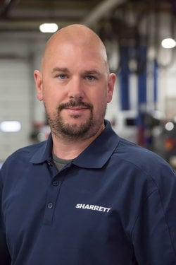 GM Service Advisor Chuck Rice in Service at Sharrett Auto Stores