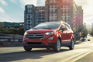 red 4 door 2018 ford ecosport sel suv