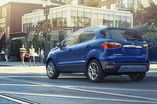 New ford ecosport titanium suv at a red light on brevard rd in Asheville NC
