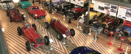 Nineteen vintage Maseratis are stored in a barn on the Panini family's 791 acre farm in Modena, Italy