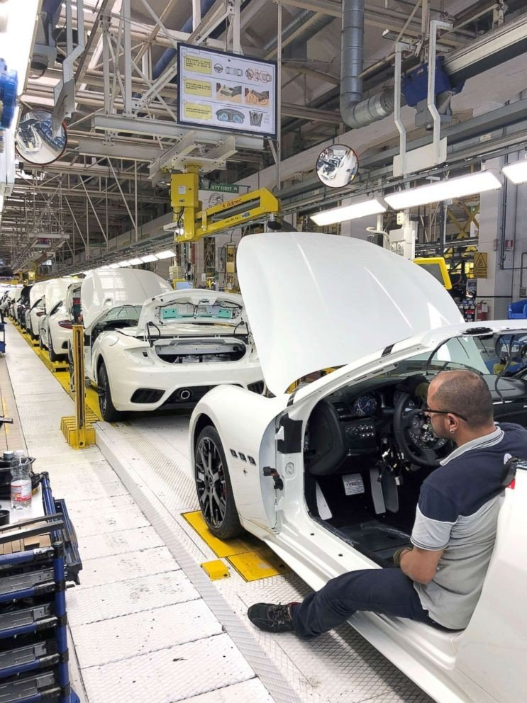 New models of the six-figure GranTurismo and GranTurismo Spyder on assembly line