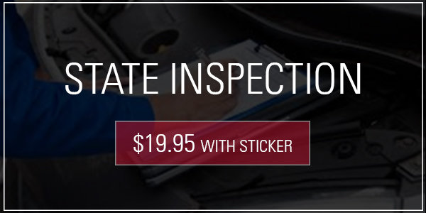 Coupon for PA State Inspection $19.95 with sticker