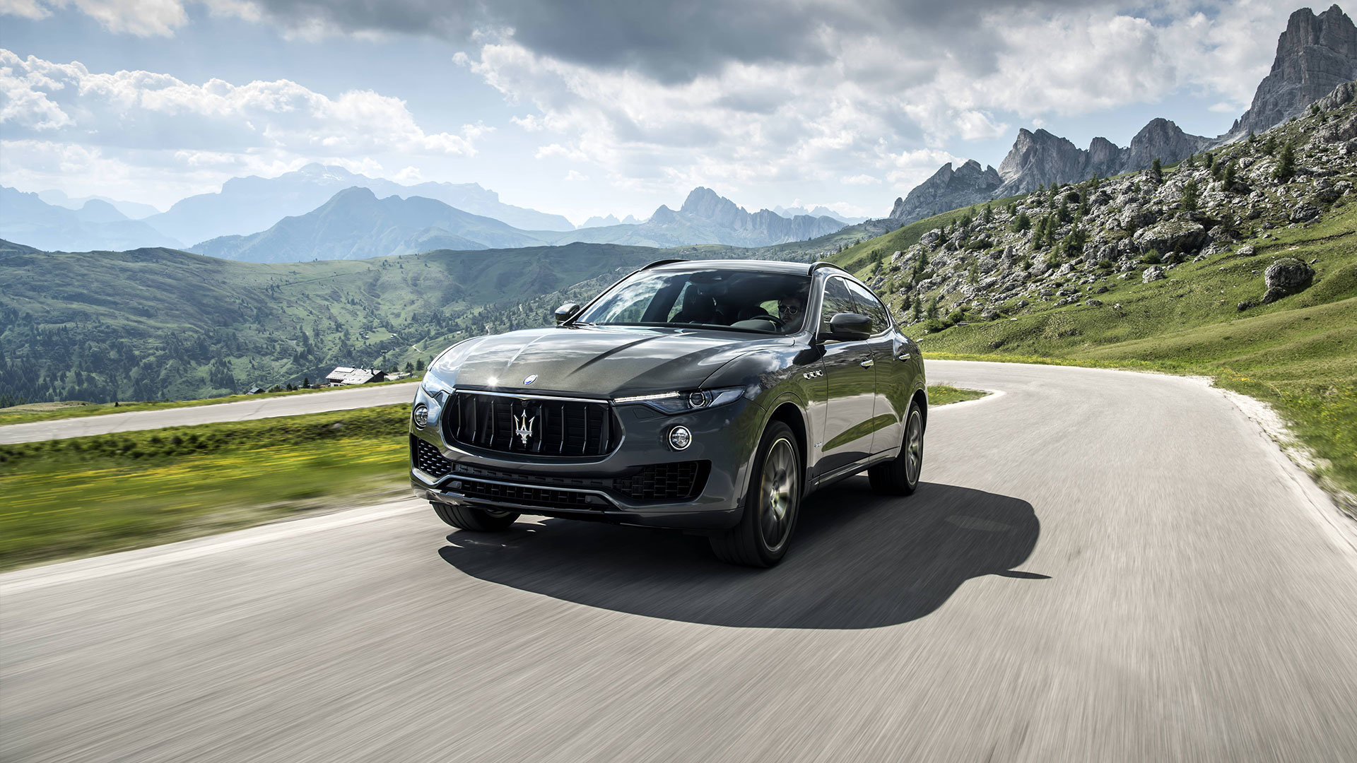 4 door 2018 maserati levante gransport driving through the country in Wilkes Barre PA