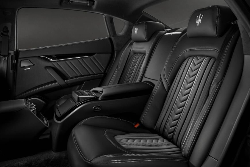 Comfortable and stylish rear seats founds in the 2018 maserati quattroporte granlusso