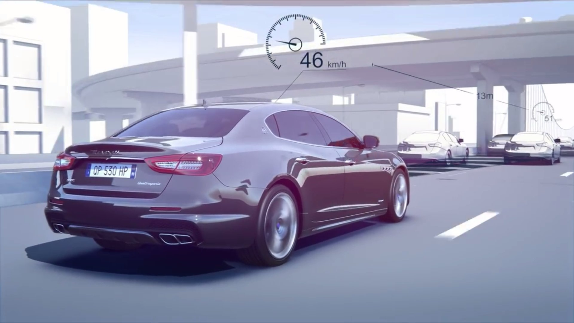 Automated safety features found in the maserati quattroporte