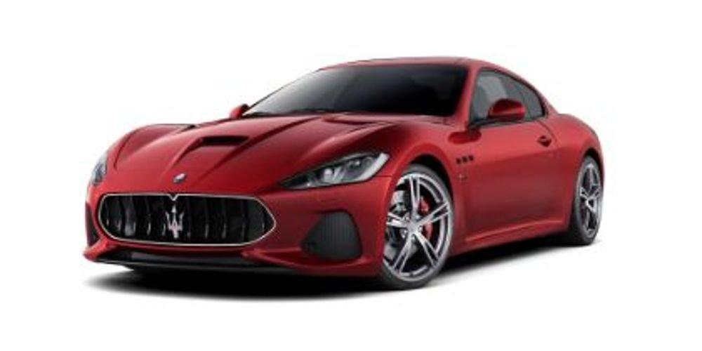 brand new red maserati gran turismo luxury sports car