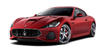 Lease this brand new red maserati grantturismo sports car
