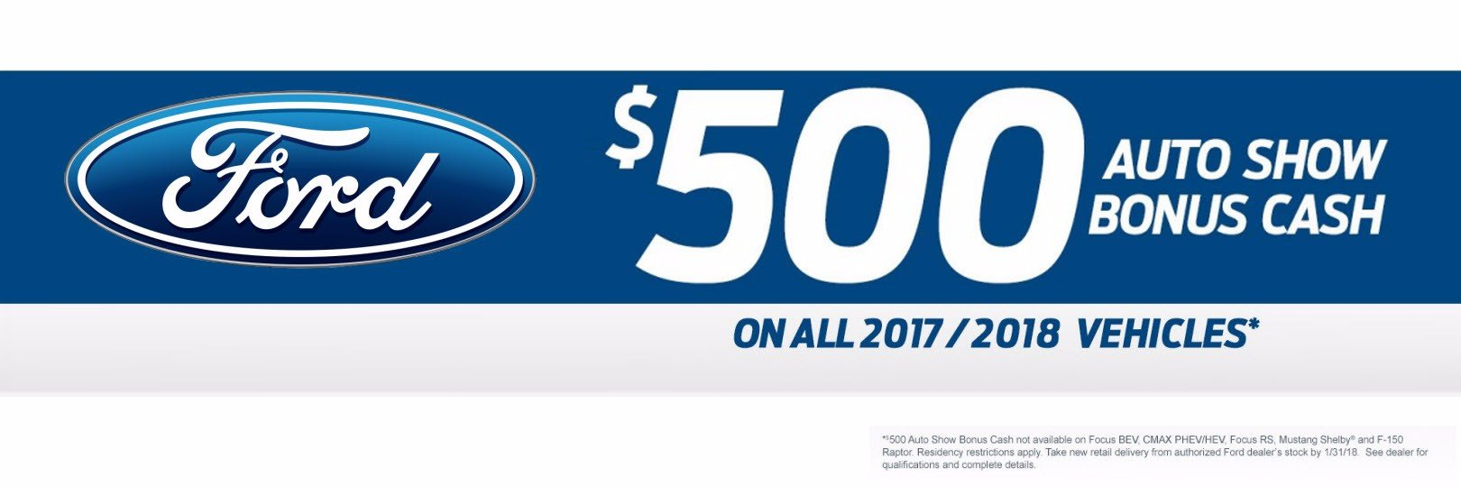 January 2018 Philly Auto Show Cash $500 Incentive