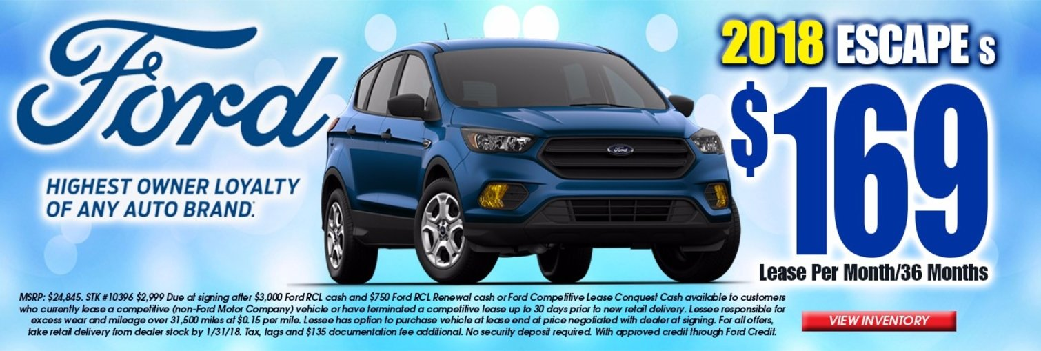 Chapman Ford Escape January Lease Offer