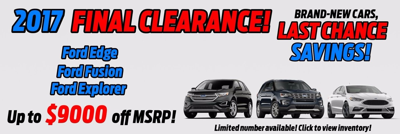 Final Clearance! Up to $9000 Off MSRP for select 2017 models!