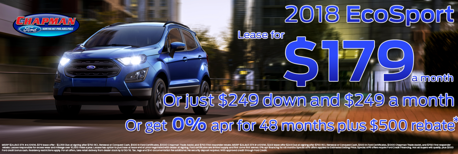 ecosport lease may