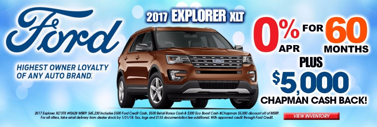 Chapman Ford Explorer Lease Special January 2018