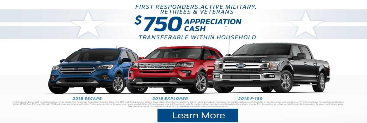 military appreciation rebate