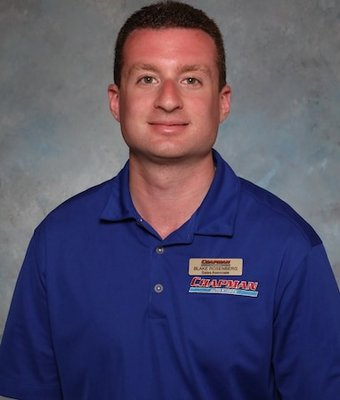 Sales Associate Blake Rosenberg in Sales at Chapman Ford VW