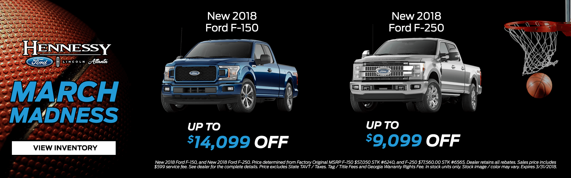March Madness Truck Inventory