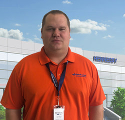 Quick Lane Assistant Manager Josh Hayes in Quick Lane at Hennessy Ford Lincoln Atlanta