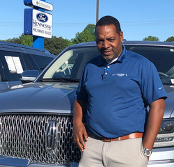 Sales & Leasing Professional Terrance Estelle in Pre-Owned Sales at Hennessy Ford Lincoln Atlanta