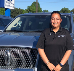 Sales & Leasing Professional Elvia Hernandez in Pre-Owned Sales at Hennessy Ford Lincoln Atlanta