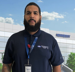 Parts Counter Jose Bussi in Parts at Hennessy Ford Lincoln Atlanta