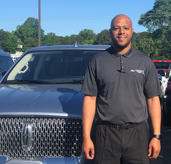 Sales & Leasing Professional Tre Johnson in Pre-Owned Sales at Hennessy Ford Lincoln Atlanta
