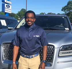 Sales & Leasing Professional Marcel Jackson in Pre-Owned Sales at Hennessy Ford Lincoln Atlanta