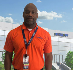 Quick Lane Manager Brandon Perkins in Quick Lane at Hennessy Ford Lincoln Atlanta